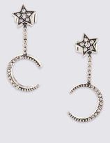 M&S Collection Star & Moon Drop Earrings