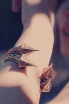 Luv Aj Carved Talon Bracelet in Copper Ox
