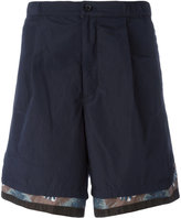 Kolor printed trim shorts - men - Cotton/Polyester - 2
