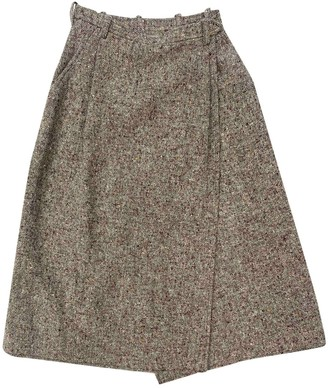 Saint Laurent Brown Tweed Skirts