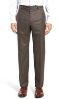 Zanella Men's Flat Front Solid Wool Trousers