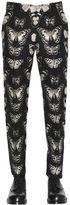 Alexander McQueen 17cm Butterfly Wool Blend Jacquard Pants
