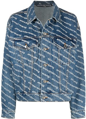 Alexander Wang Logo-Print Denim Jacket