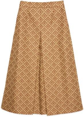 Gucci GG damier jacquard culotte pant