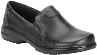 Nurse Mates Leather Slip On Shoes - Meredith