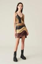 Thumbnail for your product : Ganni Lamb Leather Mini Skirt