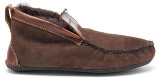 Quoddy Dorm Shearling Slipper Boots - Grey