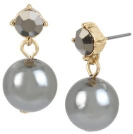 Miriam Haskell 12 mm Pearl Stone Drop Earrings