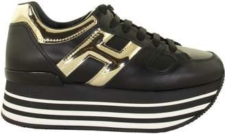 Hogan H283 Black And Gild Sneakers