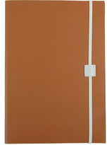 Undercover Recycled Leather Notebook - Caramel - A4 Plain