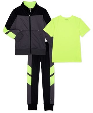Cheetah Boys Tricot Jacket, Joggers and Performance T-Shirt, 3-Piece Athletic Set, Sizes 2T-18 & Husky