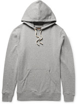 Beams Mélange Loopback Cotton-jersey Hoodie - Gray