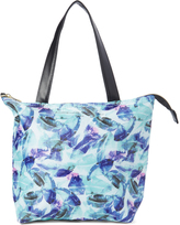 Tricoastal Design Blue & Purple Floral Insulated Lunch Tote