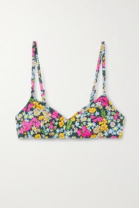 Solid & Striped + Il Pellicano The Rachel Floral-print Bikini Top - Black