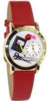 Whimsical Watches Women's C0640002 Classic Gold Teacher Red Leather And Goldtone Watch
