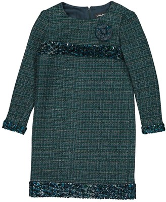 Chanel Green Wool Dresses
