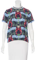 Mother of Pearl Mixed Print Silk Top