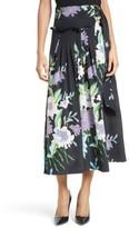 Diane von Furstenberg Women's Floral Silk Midi Skirt