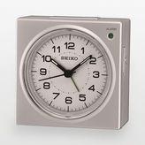 Seiko Silver Tone Alarm Clock - QHE086SLH