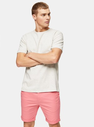 Coral Skinny Chino Shorts