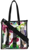 Versace clear baroque-print tote bag