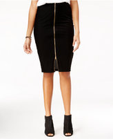 Material Girl Juniors' Striped Velvet Pencil Skirt, Only at Macy's