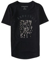 Aeropostale Womens New York City Sequin Graphic T Shirt