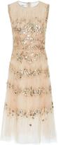 Oscar de la Renta Embellished Tulle Cocktail Dress