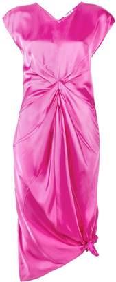 Helmut Lang knot silk dress