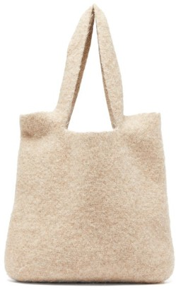 LAUREN MANOOGIAN Oval Knitted Tote - Beige