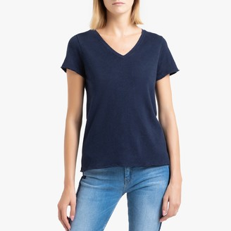 American Vintage Sonoma Cotton V-Neck T-Shirt with Short Sleeves