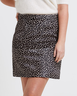 SABA Women's Brown Skirts - Lexi Leather Mini Skirt - Size One Size, 6 at The Iconic