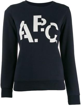 A.P.C. contrast print jumper