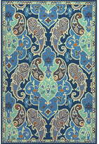 Andover Mills Sardinia Blue/Ivory Floral Indoor/Outdoor Area Rug Rug