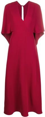 Valentino deep V-neck maxi dress