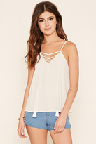 Forever 21 FOREVER 21+ Crinkled Lace-Up Cami