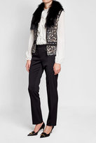 Roberto Cavalli Vest with Wool, Mohair, Alpaca and Fur
