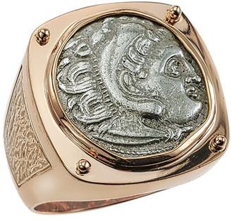 Jorge Adeler Men's Ancient Coin 18K Gold Ring