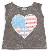 Junk Food Clothing Girl's American Dreamer Flag Heart Tank Top