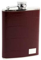 Bey-Berk Stainless Steel Leather Flask