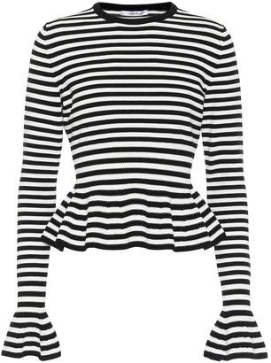 Max Mara Jerzu striped peplum sweater