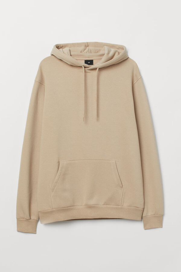 H&M Relaxed-fit Hoodie - Beige