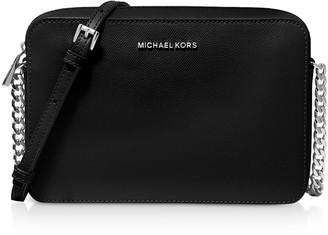 Michael Kors Jet Set Large Saffiano Leather Crossbody Bag