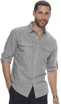 Apt. 9 Men's Modern-Fit Crosshatch Roll-Tab Button-Down Shirt