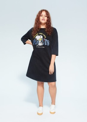 MANGO Snoopy printed dress