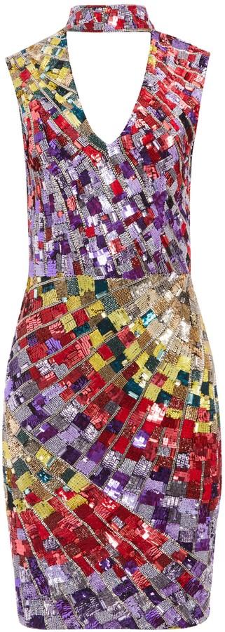 Alice + Olivia Dumont Sequin Sleeveless Gown