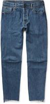 Vetements - + Levi's Slim-fit Tapered Patchwork Denim Jeans