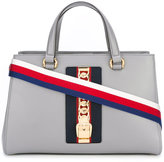 Gucci Sylvie top handle bag - women - Cotton/Leather/Metal (Other) - One Size