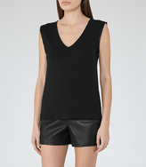 Reiss Sophia Sleeve-Trim Tank Top