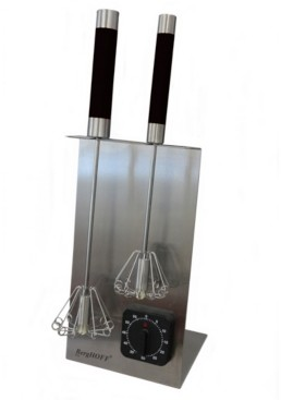 "Berghoff 16.5"" 18/10 Stainless Steel Whisk And Timer Set"